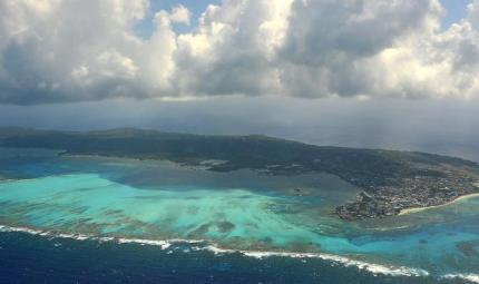Imagen del Archipiélago de San Andrés, tomada desde el aire