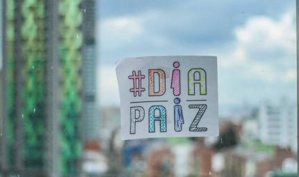 La Semana por la Paz es organizada por siete universidades, Los Andes participa con 'Día Paíz'. Foto: Mateo Rueda.