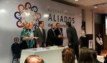 Los Andes recibe reconocimiento como aliada del proceso de reintegración