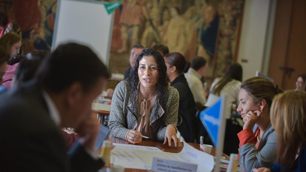 Participantes del taller de valores Uniandes