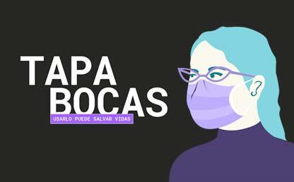 Ilustración persona con Tapabocas