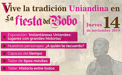Imagen con lista de actividades de tradición uniandina que tendrán lugar en la Fiesta del Bobo 2019