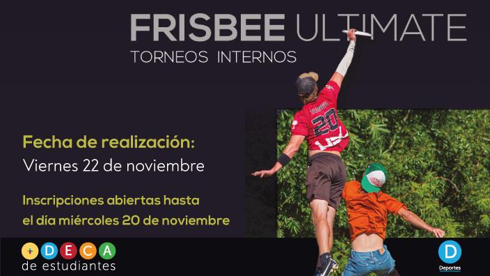 Imagen con dos jugadores de ultimate alcanzando un frisbee en el aire