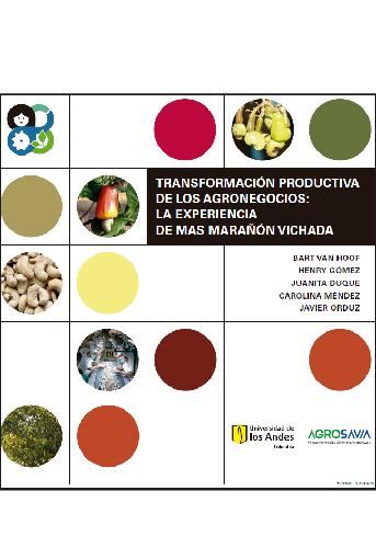 Cubierta del libro Transformación productiva de los agronegocios.La experiencia de MAS Marañon Vichada