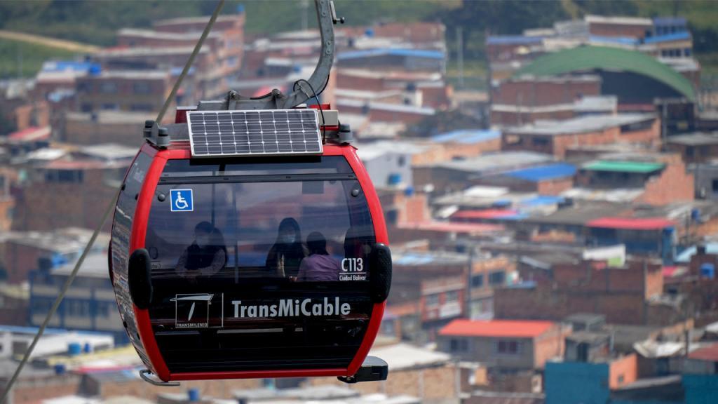 Foto del TransMiCable Bogotá