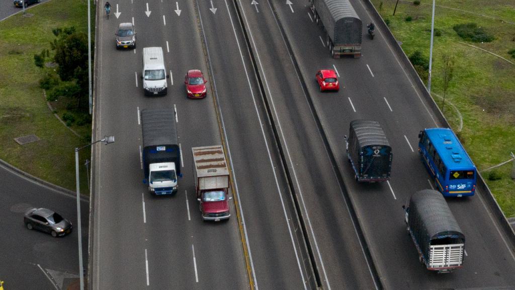 Autopista en Bogotá
