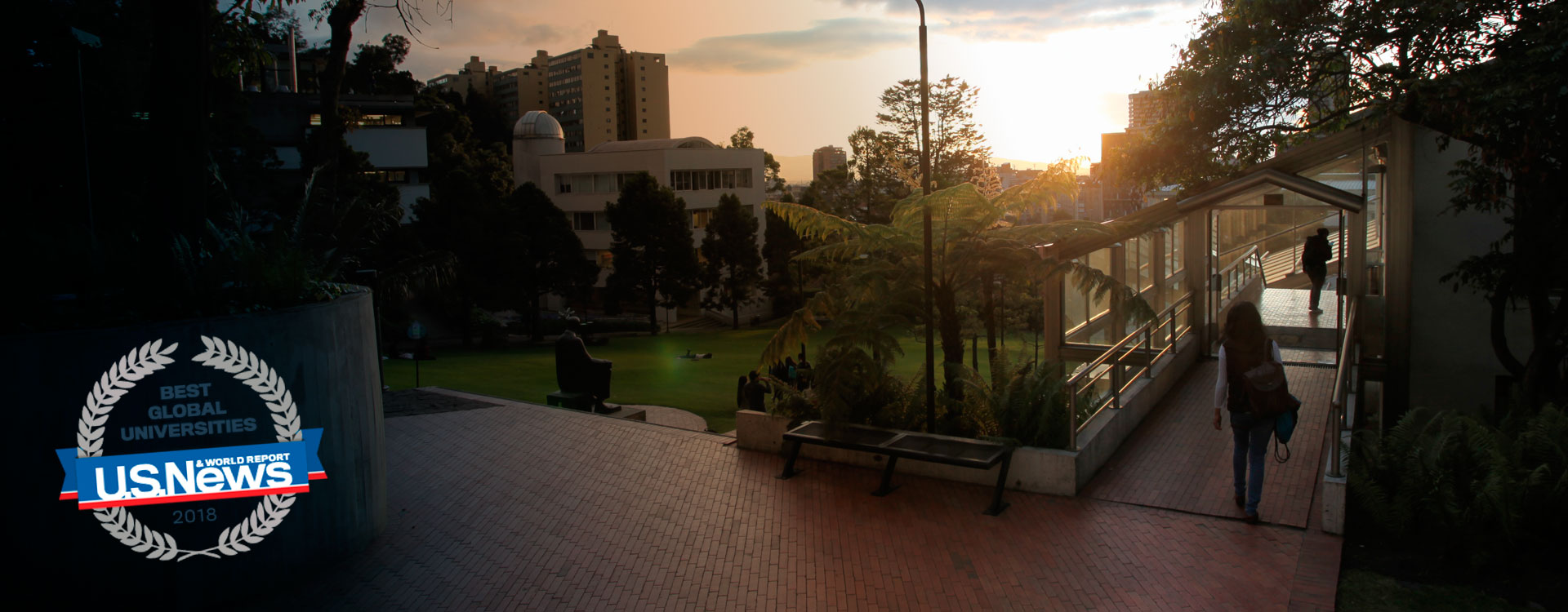 Image of the campus at Universidad de los Andes, in Bogotá, Colombia.