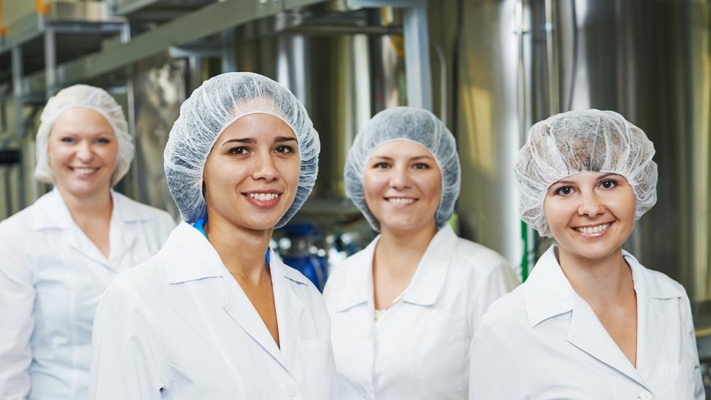 Imagen mujeres trabajadoras en fábrica
