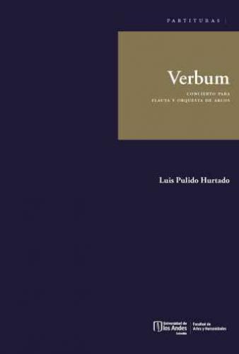 Cubierta del libro Verbum. Concierto para flauta y orquesta de arcos