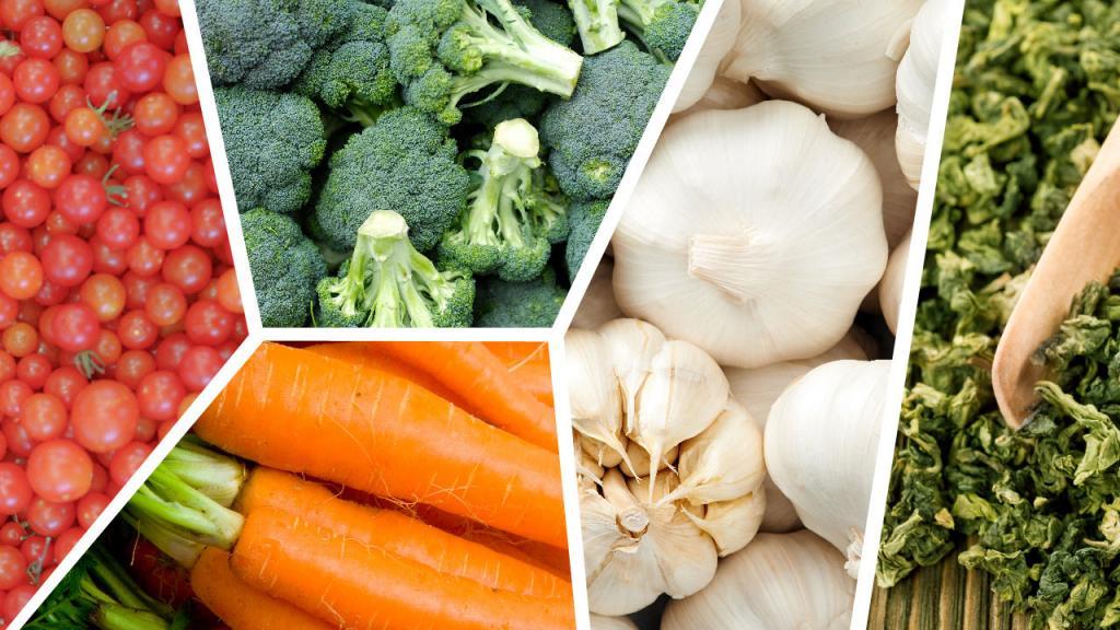 Collage de verduras