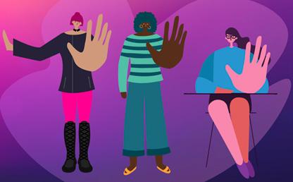 Ilustración para frenar la violencia de género