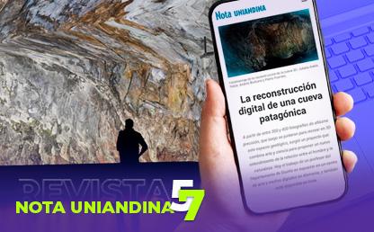 Silueta de hombre observa pared de una cueva en la Patagonia chilena.