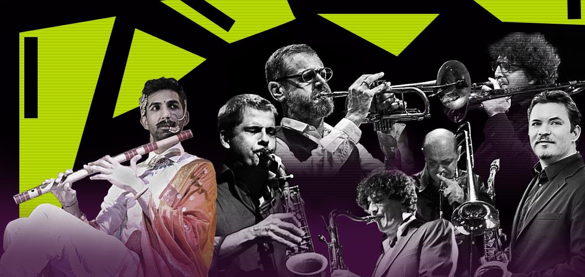 Ilustración de músicos jazzistas